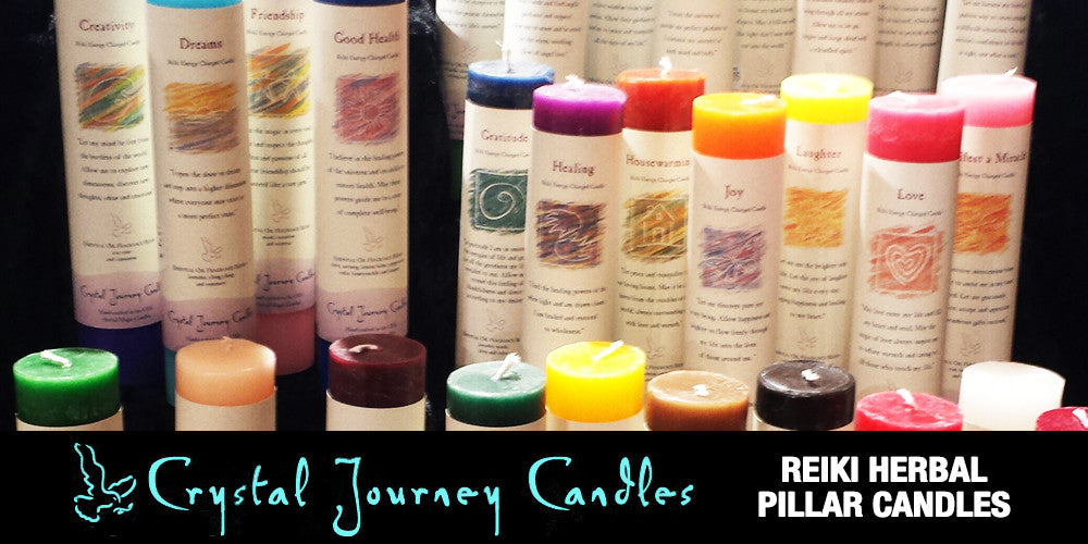CRYSTAL JOURNEY HERBAL PILLAR CANDLES