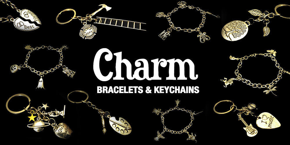 CHARM BRACELETS AND KEYCHAINS