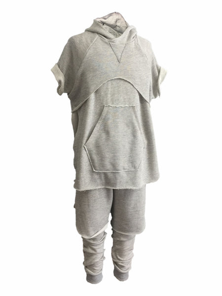 The Halen Limited GRAY Kilted Sweatpant (seen here with Zeplin Tiered Hoodie)
