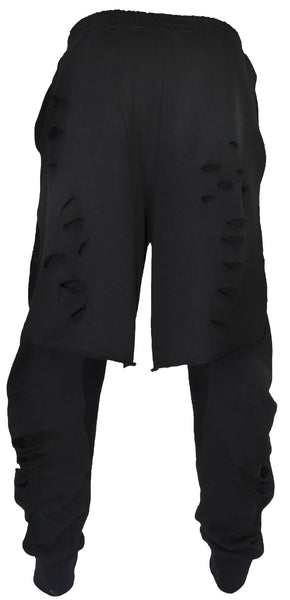 The Halen Kilted Sweatpant Destroyed