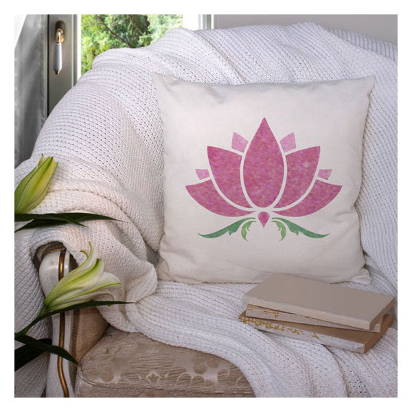 CraftStar Lotus Flower Stencil