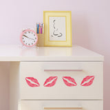 Lip Print Craft Stencil on Furniture