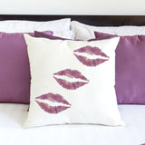 Lip Print Craft Stencil on Pillow