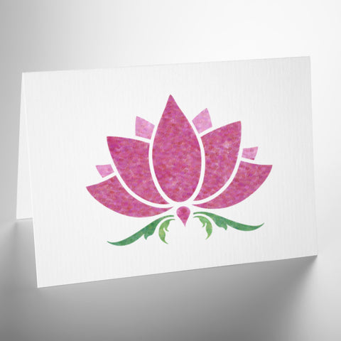 CraftStar Small Lotus Flower Stencil