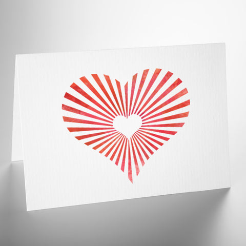 CraftStar Mini Sunburst Heart Stencil on Card