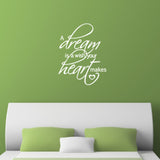 A Dream Is A Wish Your Heart Makes Wall Sticker - White