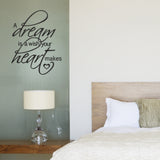A Dream Is A Wish Your Heart Makes Wall Sticker - Black