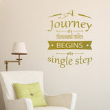 A Journey Of A Thousand Miles Wall Sticker - Gold