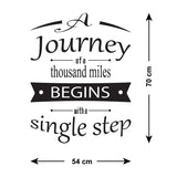 A Journey Of A Thousand Miles Wall Sticker - Size Guide