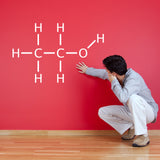 Alcohol Molecule Wall Sticker - White