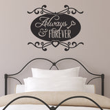 Always and Forever Wall Sticker - Black