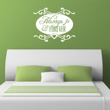 Always and Forever Wall Sticker - White