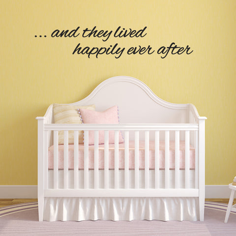 And They Lived Happily Ever After Wall Sticker - Black
