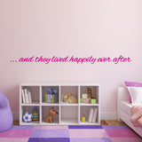 And They Lived Happily Ever After Wall Sticker - Dark Pink