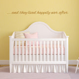 And They Lived Happily Ever After Wall Sticker - Gold