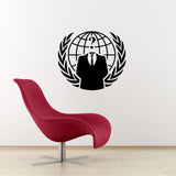 Anonymous Crest Wall Sticker - Black