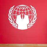 Anonymous Crest Wall Sticker - White