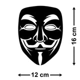 Anonymous Mask Car Sticker - Size Guide