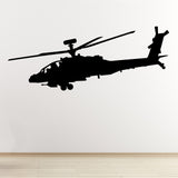Apache Helicopter Wall Sticker - Black