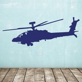 Apache Helicopter Wall Sticker - Dark Blue