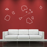 Asteroids Wall Sticker - White