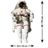 Astronaut Wall Sticker - Size Guide