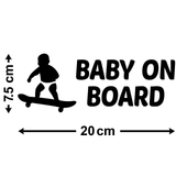 Baby On Board Bumper Sticker - Size Guide