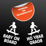 Baby On Board Car Sticker - Orientation Examples