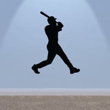 Baseball Hitter Wall Sticker - Black