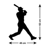 Baseball Hitter Wall Sticker - Size Guide