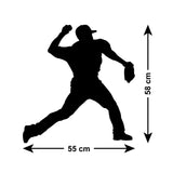 Baseball Pitcher Wall Sticker - Size Guide