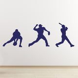 Baseball Wall Sticker Pack - Dark Blue