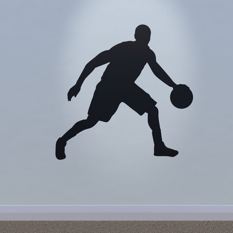 Basketball Wall Sticker - Crossover Dribble - Black