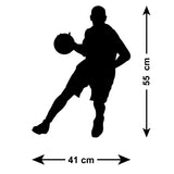 Basketball Wall Sticker - Dribble Silhouette - Size Guide