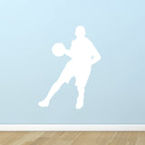 Basketball Wall Sticker - Dribble Silhouette - White