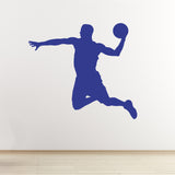 Basketball Wall Sticker - Slam Dunk - Dark Blue