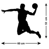 Basketball Wall Sticker - Slam Dunk - Size Guide