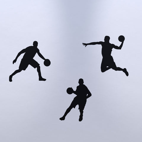 Basketball Wall Sticker Pack - Black