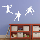 Basketball Wall Sticker Pack - White
