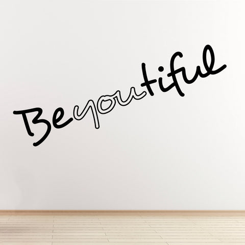 BeYOUtiful Wall Sticker - Black