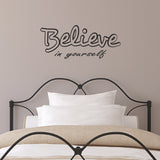 Believe In Yourself Wall Sticker - Black