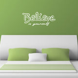 Believe In Yourself Wall Sticker - White