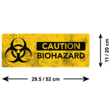 Biohazard Warning Sign Wall Sticker - Size Guide