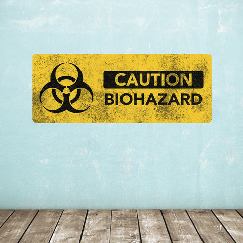 Biohazard Warning Sign Wall Sticker