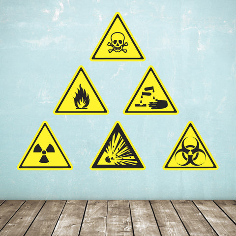 Biological & Chemical Warning Sign Wall Stickers