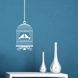 Bird Cage Wall Sticker - White