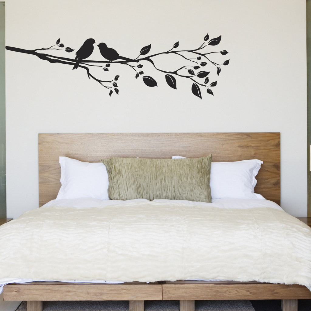rubber duck tile stickers pack of 12 zygomax birds on a branch wall sticker right facing black