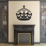 Keep Calm Crown Wall Sticker - Black