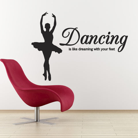 Dancing Is Like Dreaming With Your Feet - Standing Dancer - Black