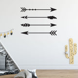 ZygoMax Large Arrow Wall Sticker Set in black